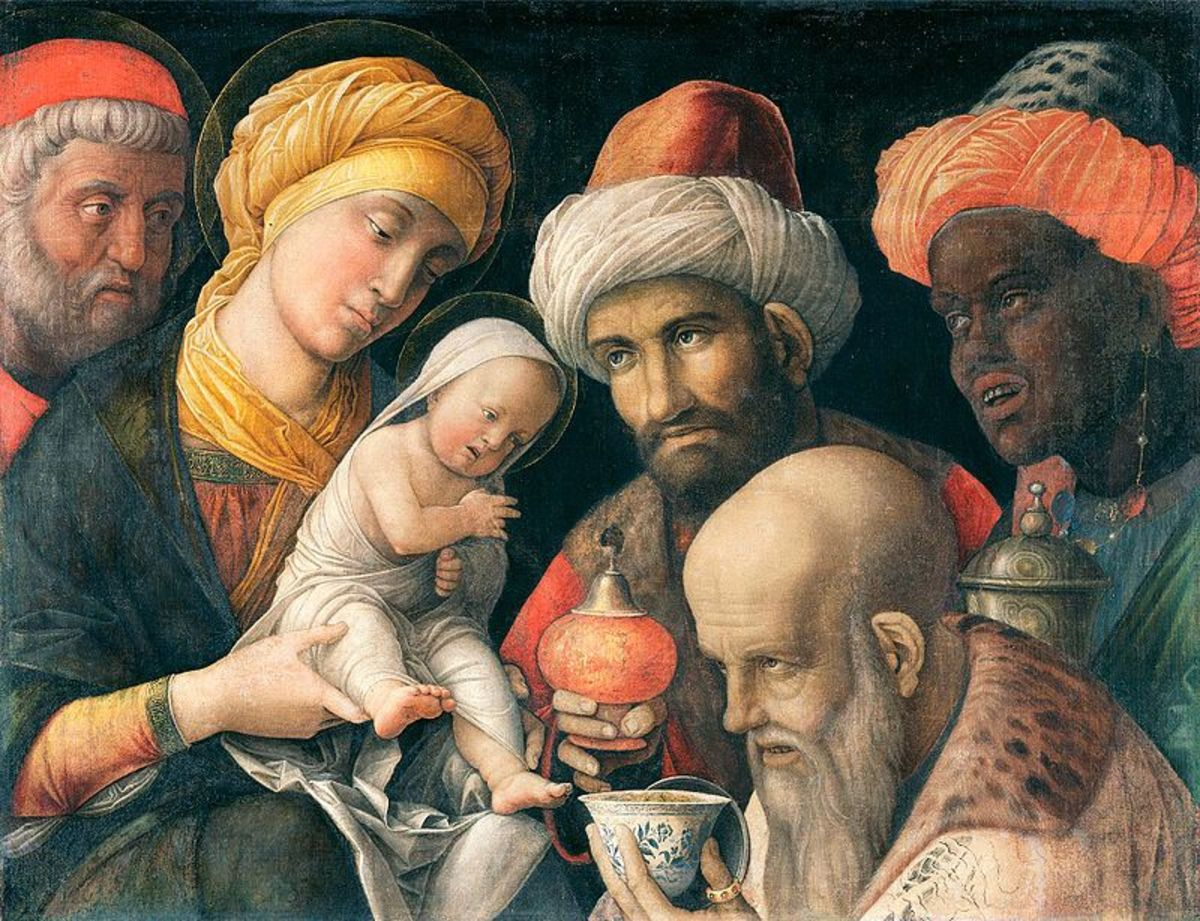 Andrea Mantegna, Adoration of the Magi (a. 1500), Los Angeles Getty Museum