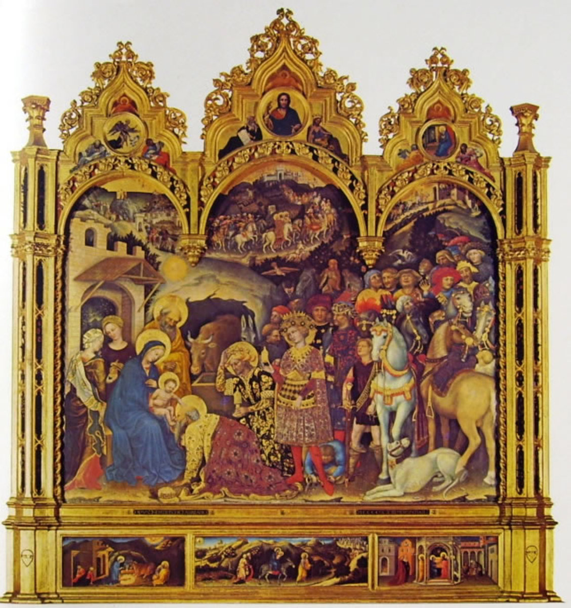 Gentile da Fabriano, Adoration of the Magi (1423), Florence Galleria degli Uffizi