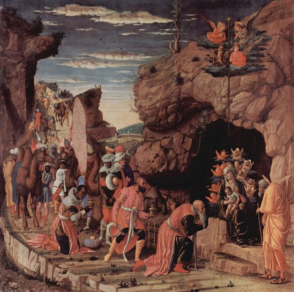 Andrea Mantegna, Adoration of the Magi (1461), Florence Galleria degli Uffizi