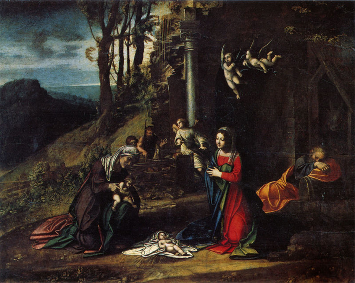 Correggio, Nativity with the Saints Elisabetta and John (1512), Milano Pinacoteca di Brera