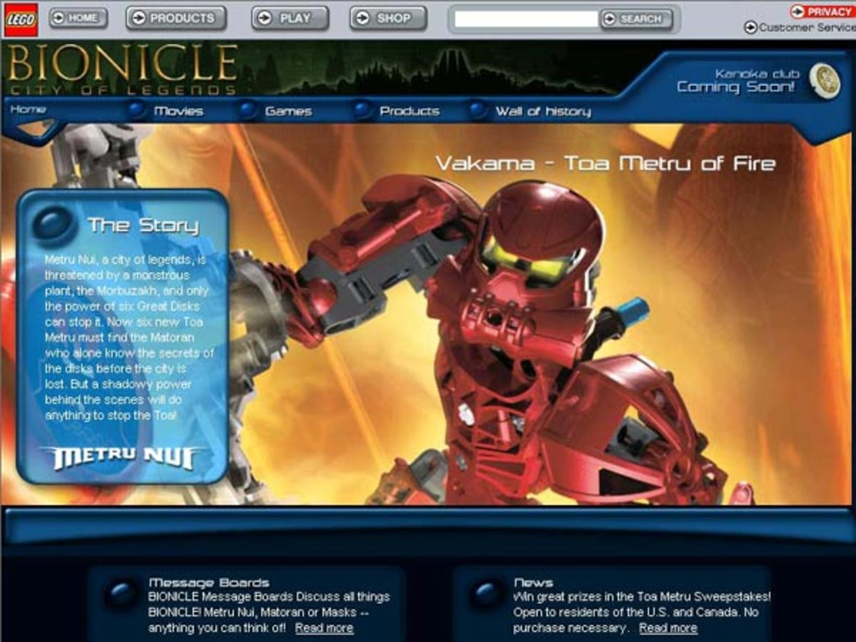 Bionicle.com oozed with lore and other additional content from the expansive universe of the line's original run, but is now barren and devoid of all character that made the original so great.