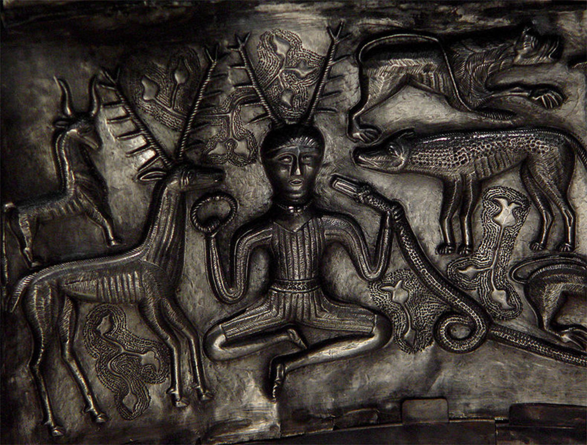 Male Horned Figure With Animals (Gundestrup Cauldron)