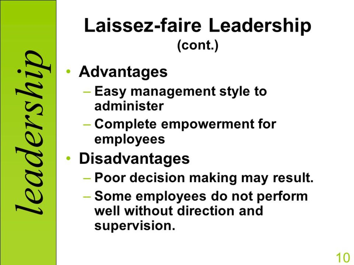 empowerment leadership style Your leadership style is situational your leadership style depends on the task, the team or individual's capabilities and knowledge.