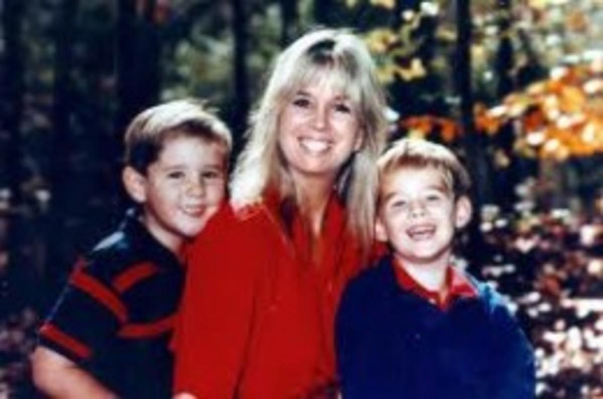 Sara Ambrusko Tokars with her sons
