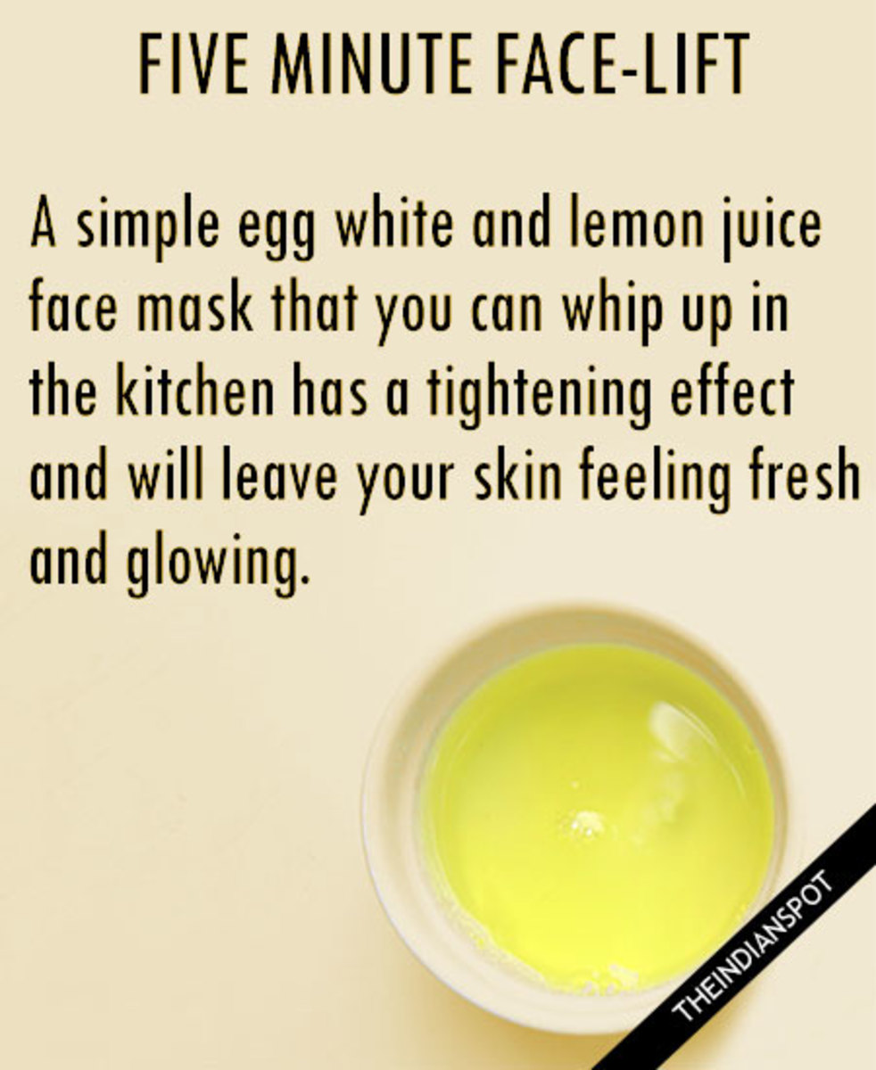 Lemon and Egg Facial
