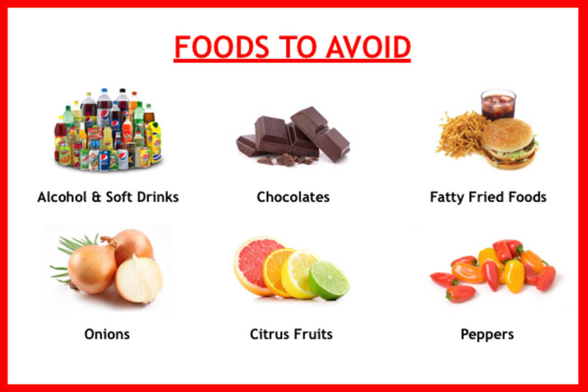 Here is a list of foods that potentially trigger acid reflux.