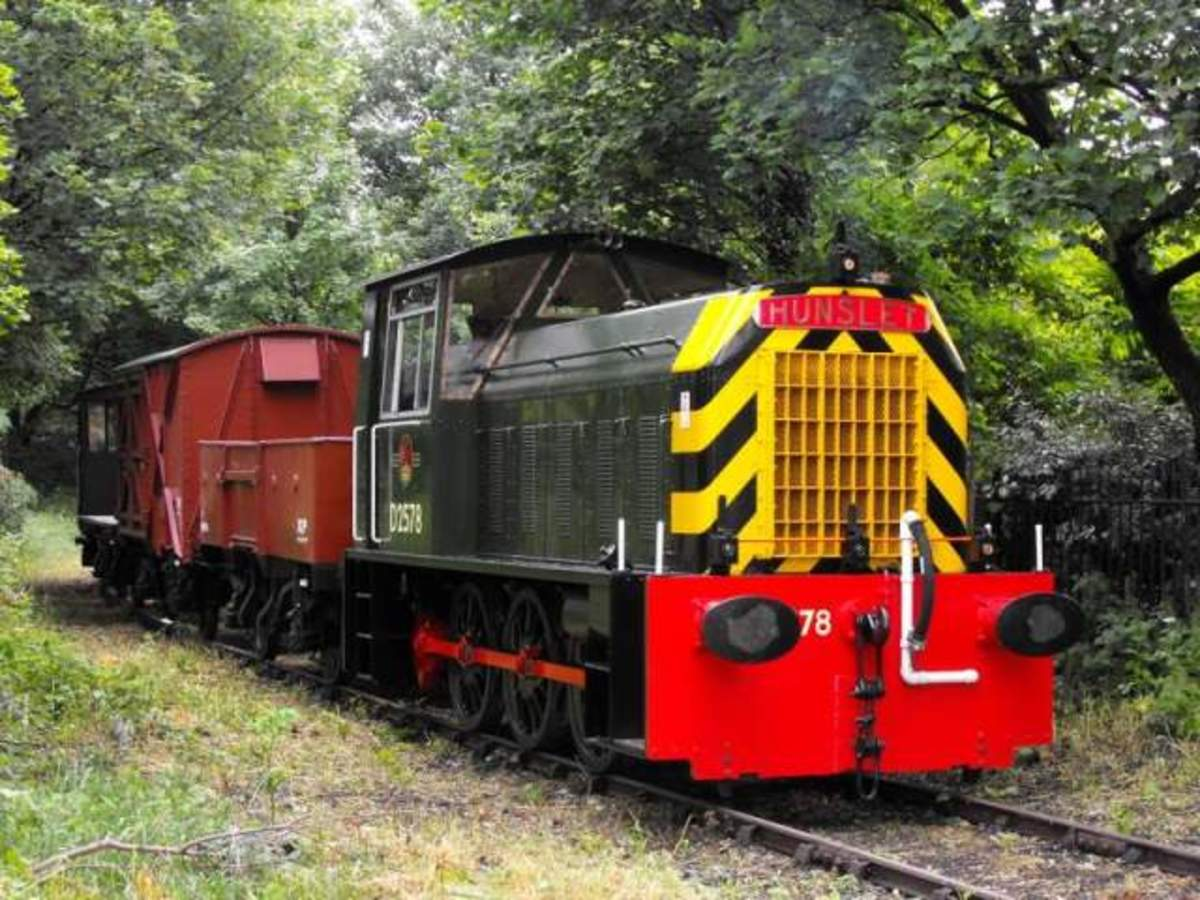 This Hunslet shunter is on the Middleton Railway near Leeds, West Yorkshire... Your own plans may be for a small, compact layout that you can put on the back seat of a saloon car.