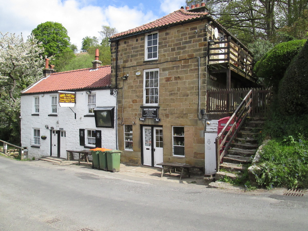 There might be an inn somewhere on your railway. This is the Birch Hall Inn at Beck Hole near Goathland. The inn is beside the River Murk Esk and close to the original railway route of George Hudson's Whitby & Pickering Railway
