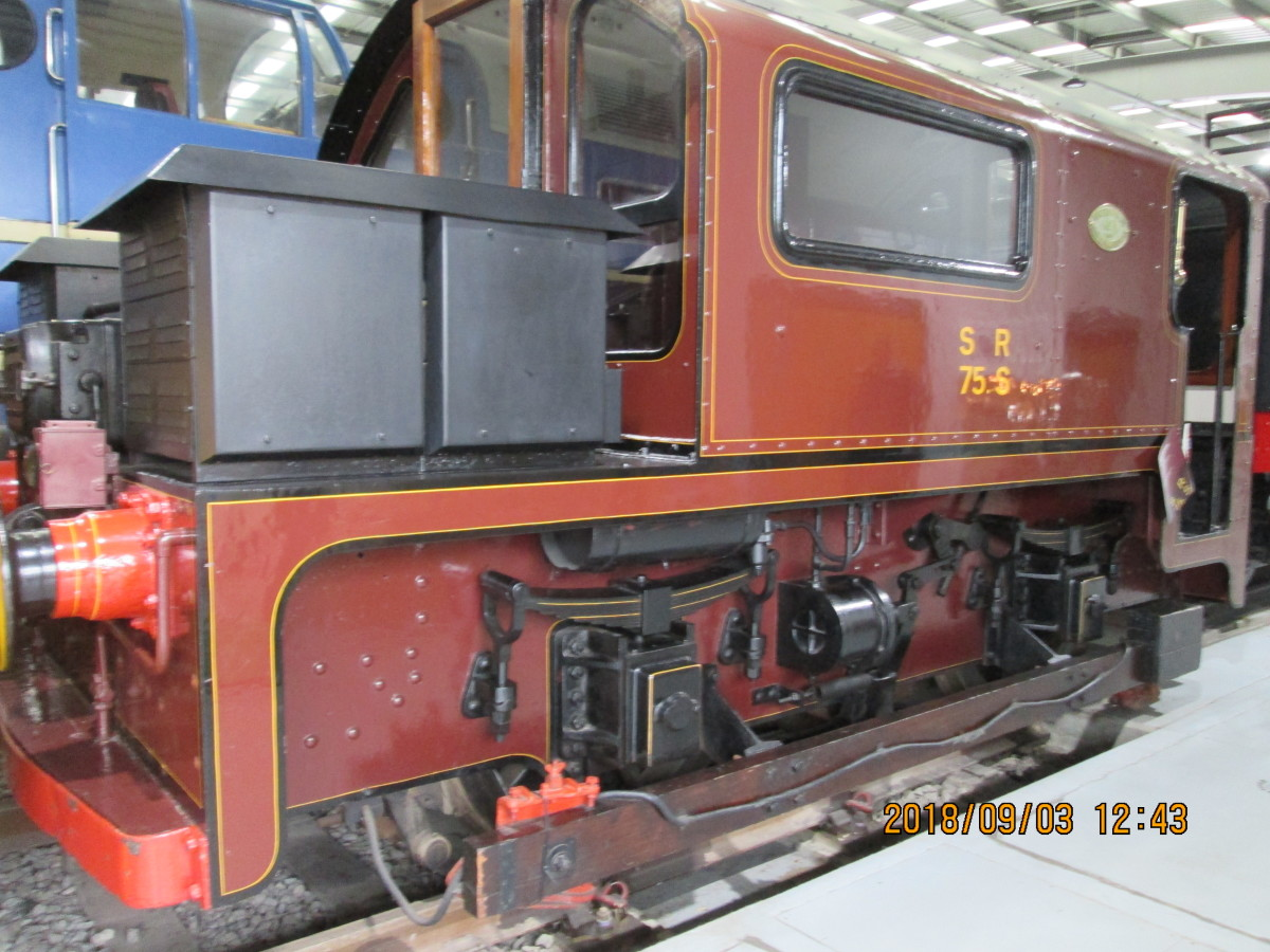 Or maybe have a go at building a locomotive rarely seen above ground? This is a Waterloo & City (Underground) Railway electric locomotive on view at 'Locomotion', Shildon. There is a growing trend here, to portray the London Underground system