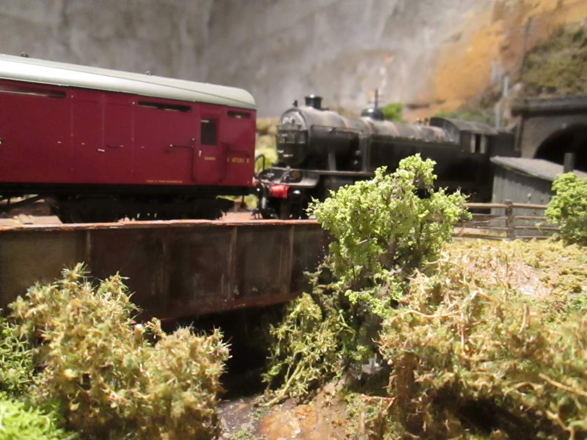 Create a scene: look at preserved railways or wherever your models are based and take in the landscape, natural or engineered. Your trains should look as if they are part of a whole