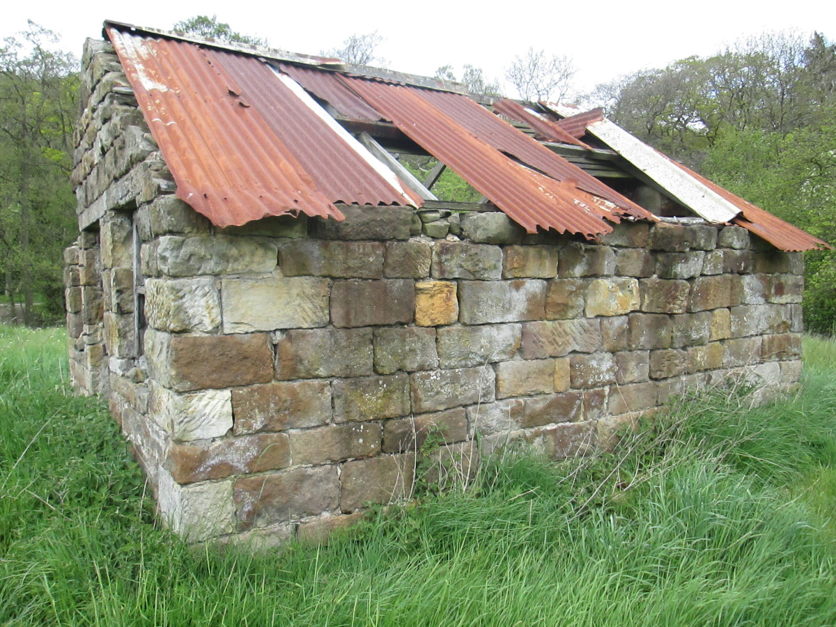 Lineside buildings feature strongly on layouts. This one is between the old route and the Deviation route on the NYMR near Beck Hole