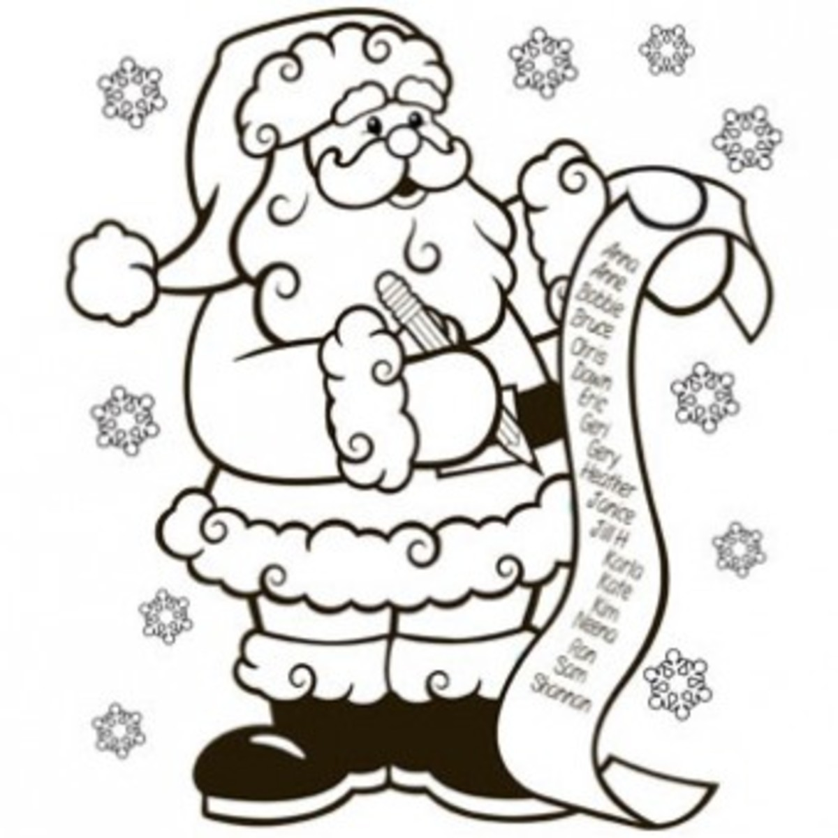 Fun free Christmas coloring pages