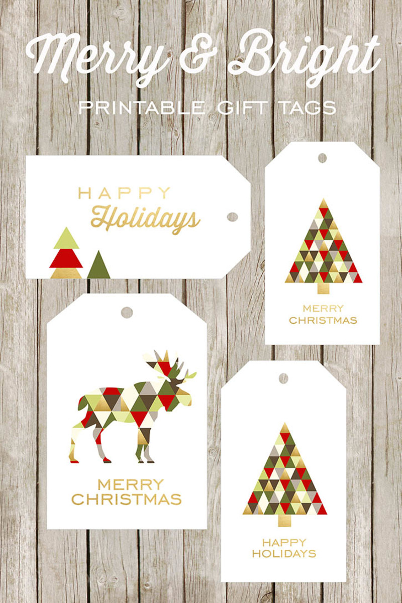 Find these printable gift tags at the World Label blog.