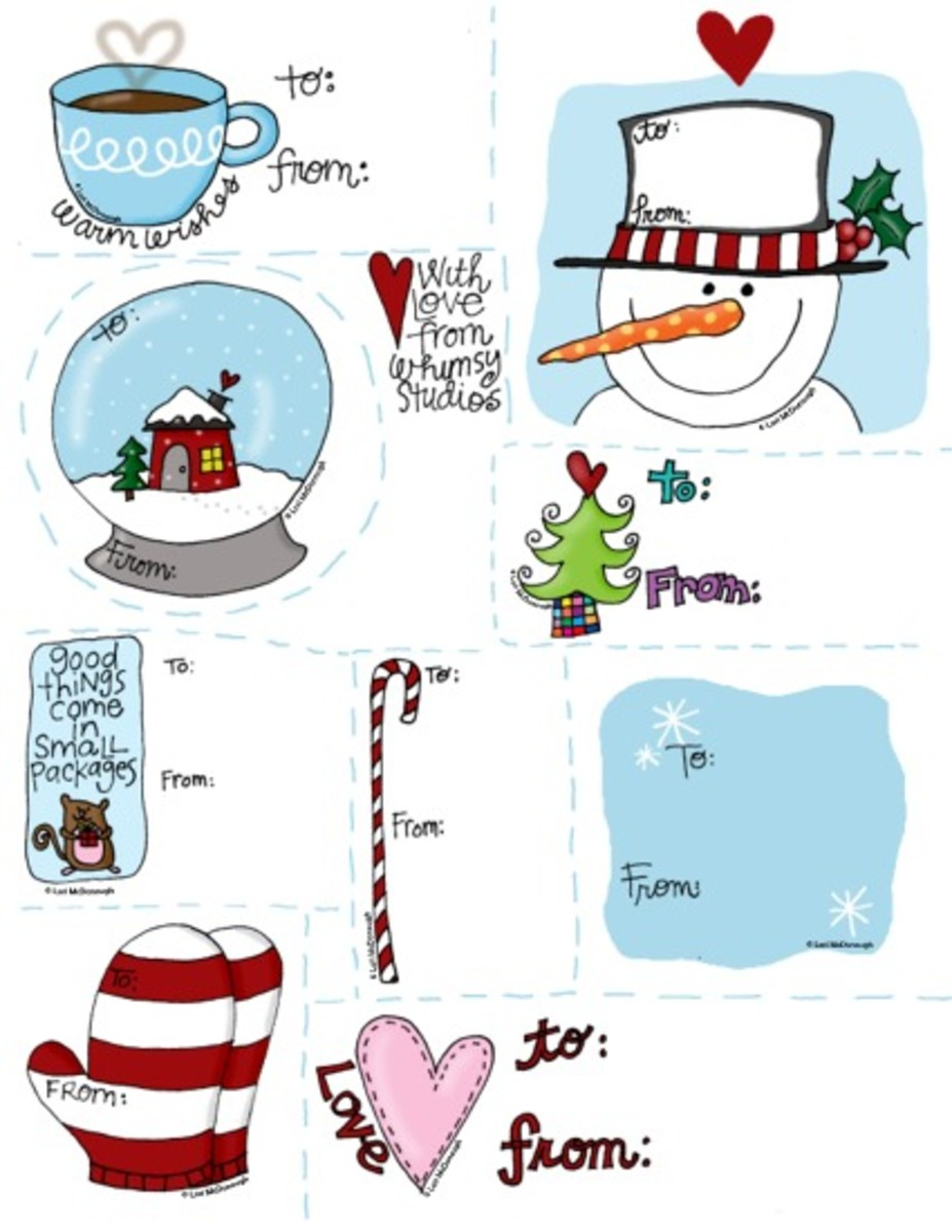 Fresh Picked Whimsy is where you can find these adorable holiday gift tags.