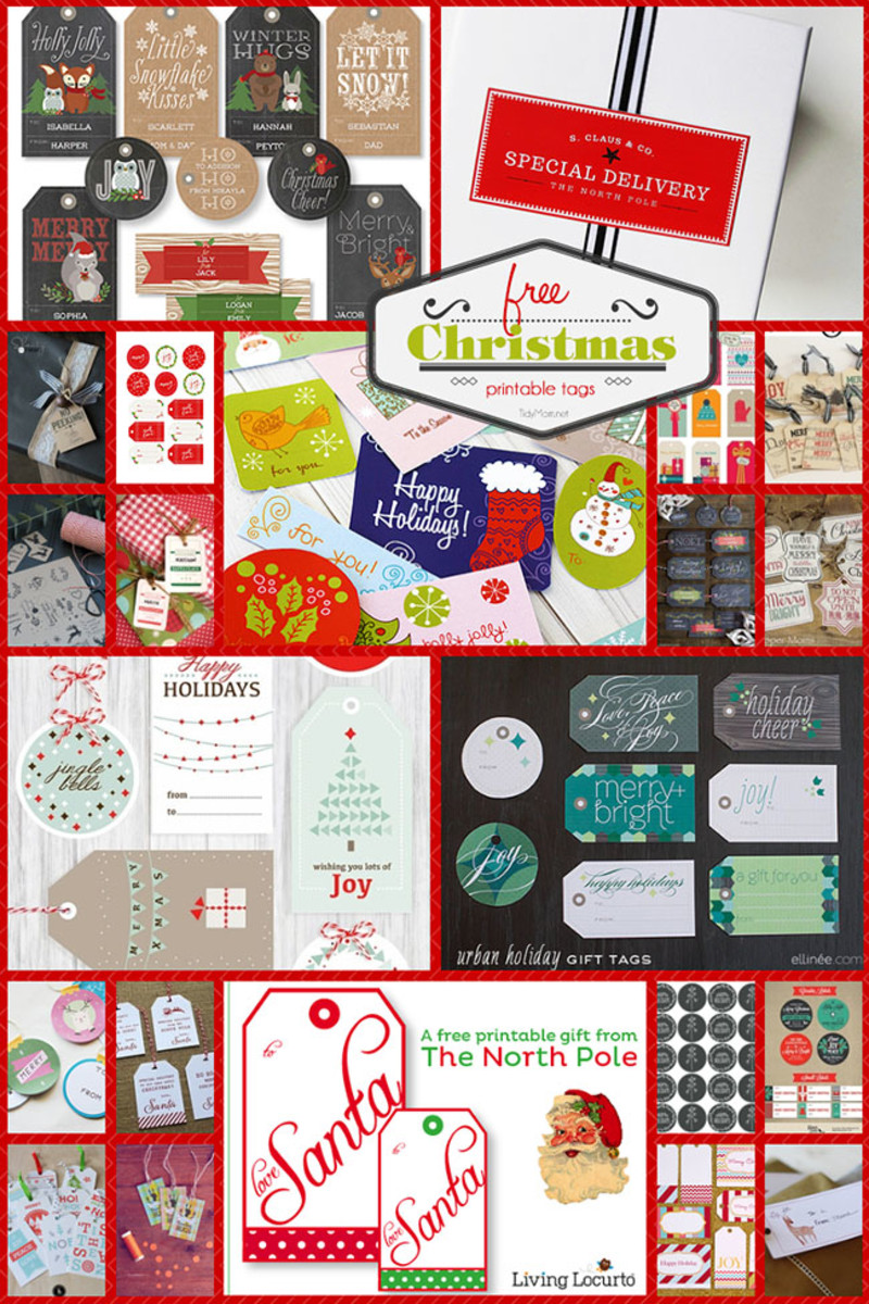 Tidy Mom will show you where to get these printable Christmas gift tags
