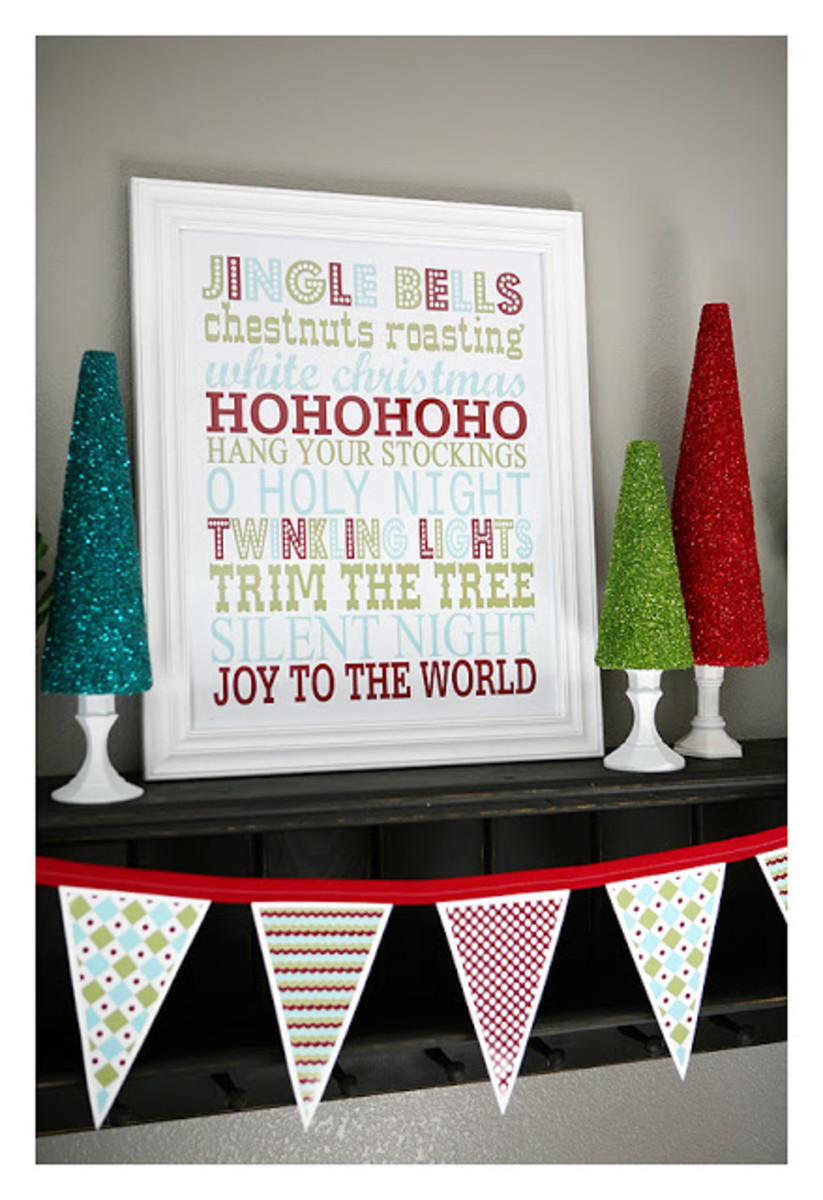 Another festive holiday poster perfect for framing from The Frugal Homemaker