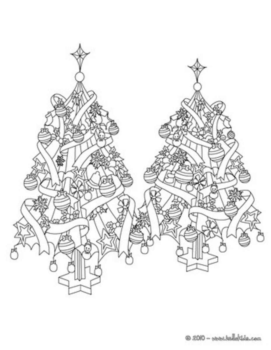 Hello Kids has over 100 free Christmas tree coloring pages for you to print out.