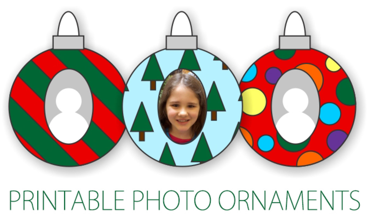These photo ornaments are easy to make and look how great they look