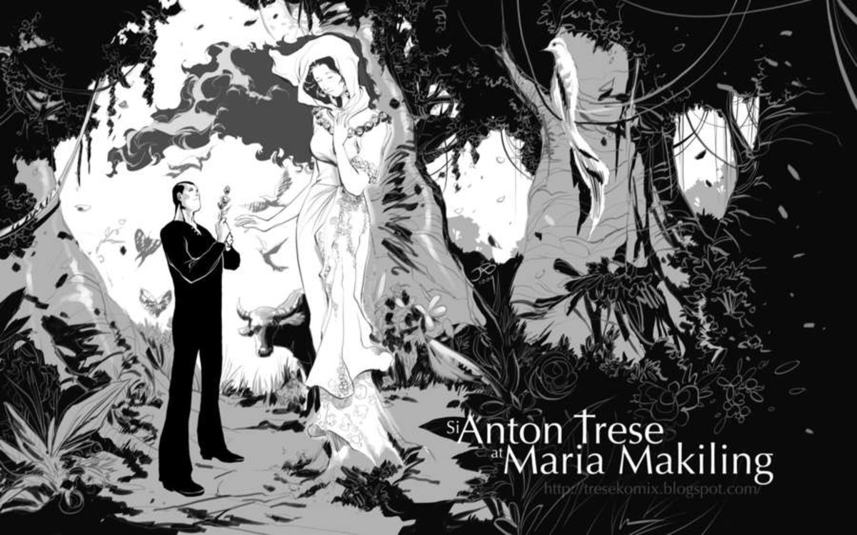 characters of maria makiling story