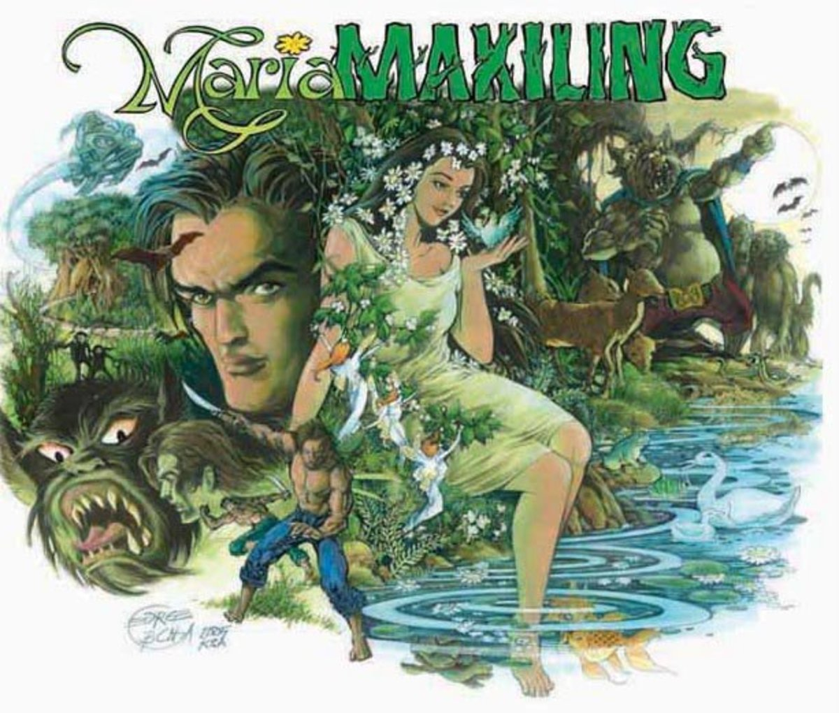 'Si Maria Makiling at mga Aswang ng Laguna' comic book cover by George Besinga