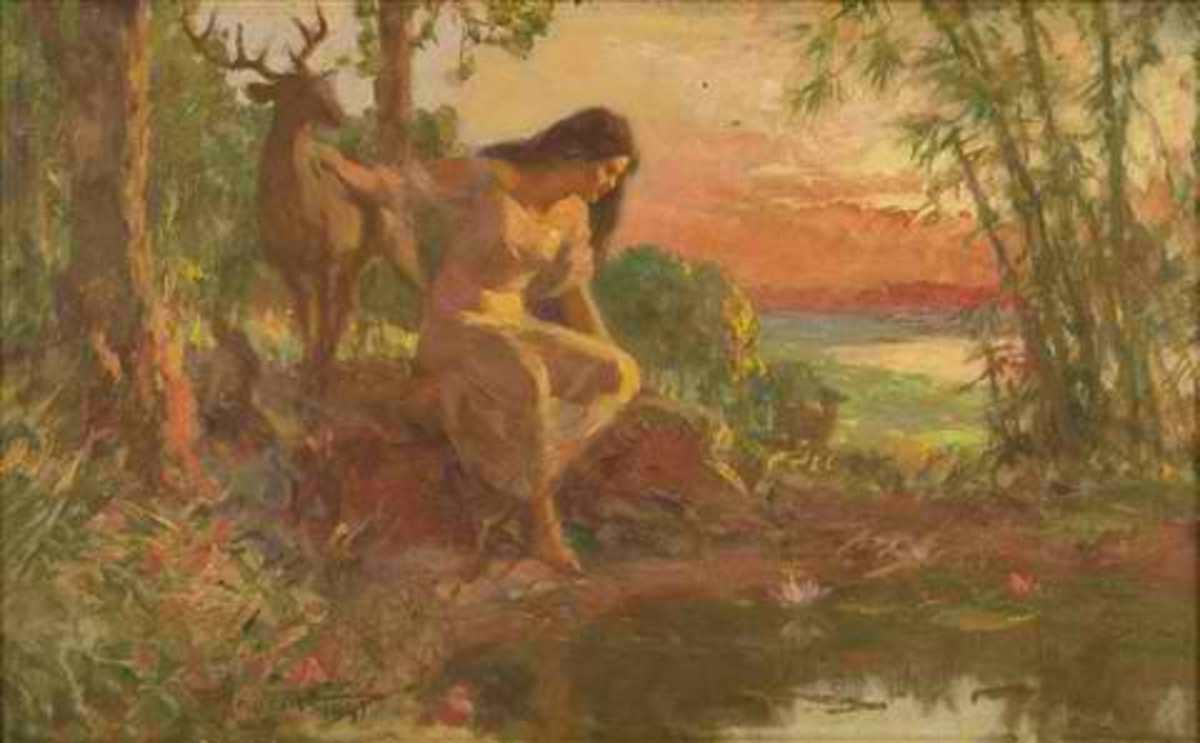'Maria Makiling' painted by national artist Fernando Amorsolo