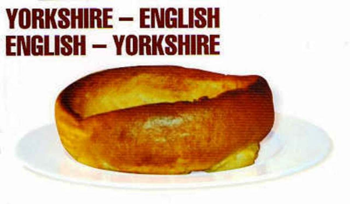 On funny lines again, get a YORKSHIRE-ENGLISH/ENGLISH-YORKSHIRE dictionary for translations. Be bi-lingual!