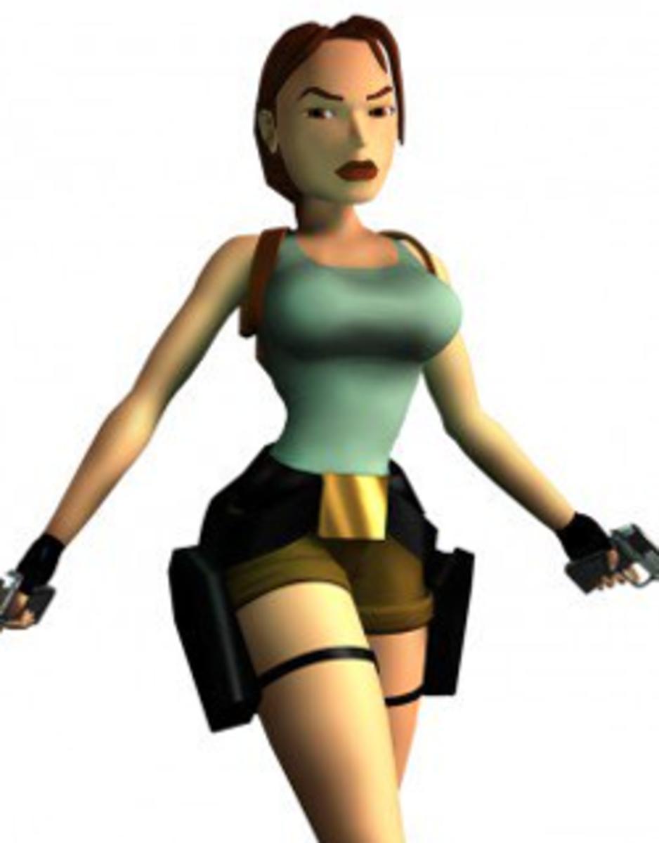Lara Croft as she appears in the original game: Lara Croft: Tomb Raider (1996)