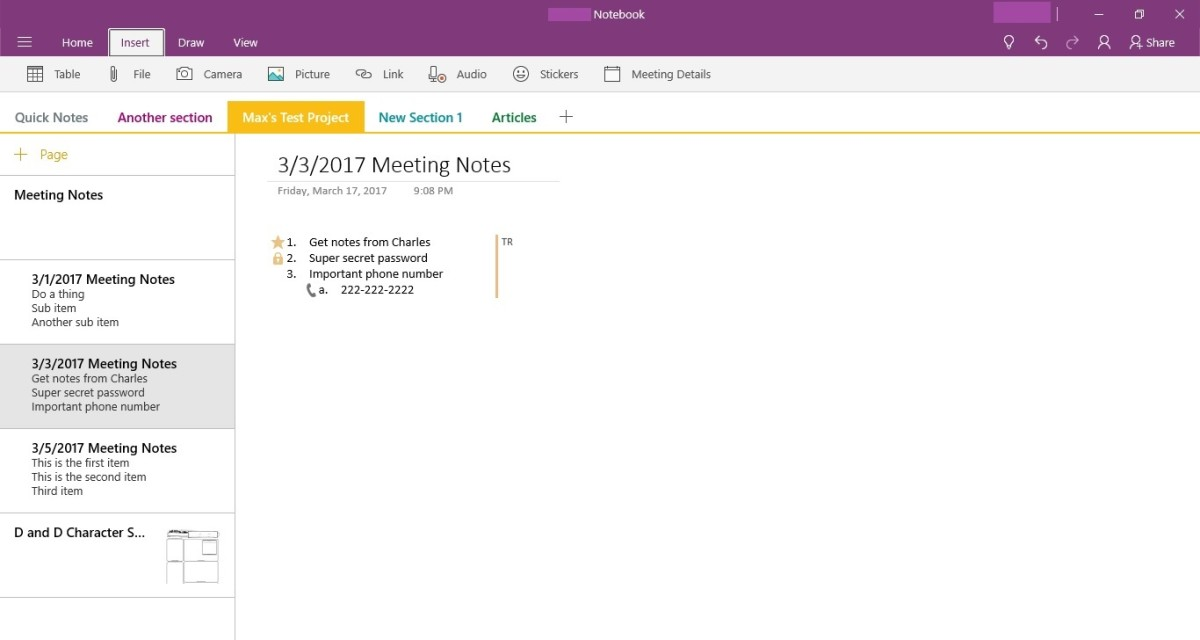 Navigate to the page where you want to attach the PDF, and then place the cursor at the location on the page where you want to insert a PDF into the Microsoft OneNote application.