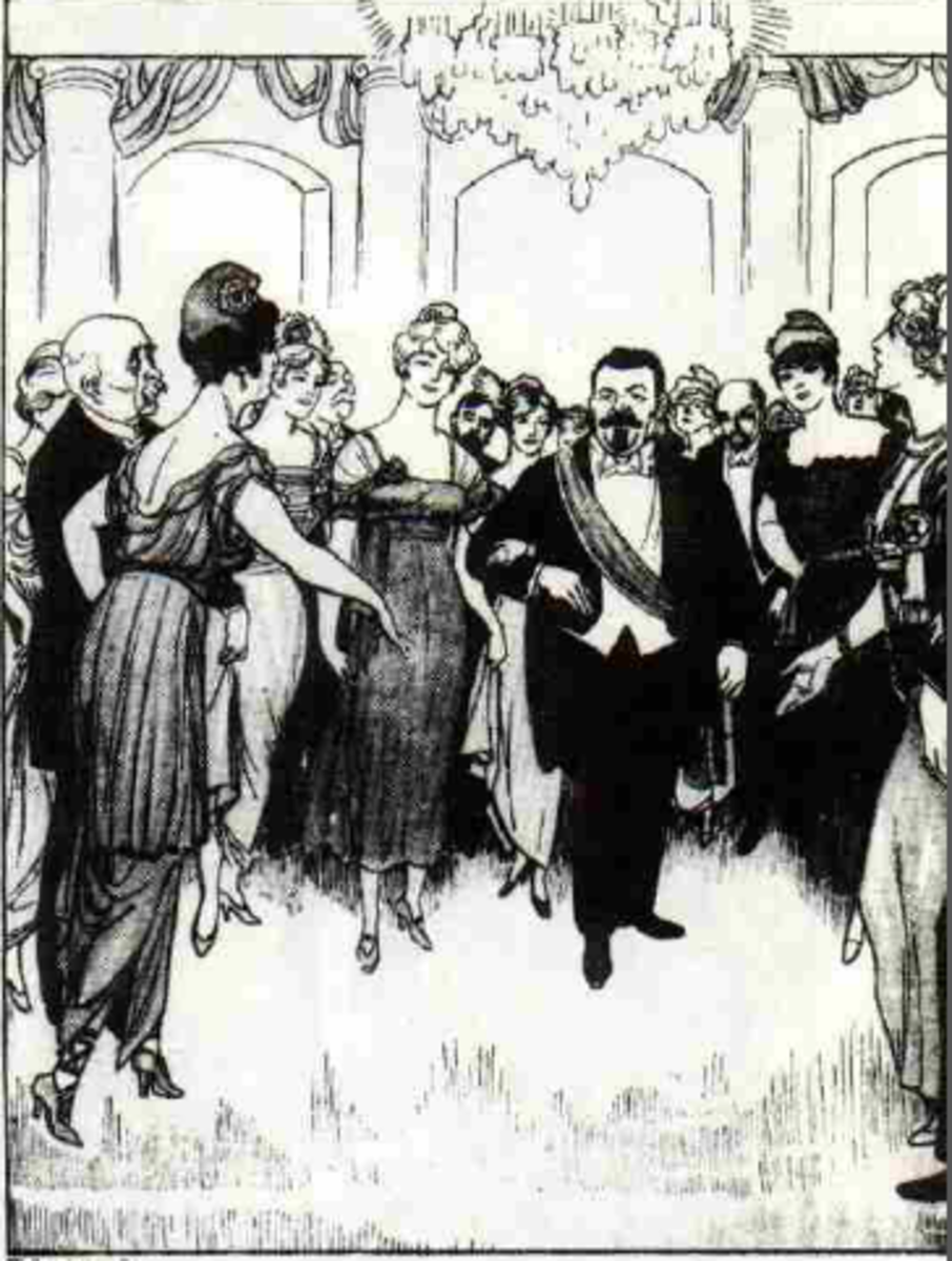 Friedrich Ebert, President of the Committee of Plenipotentiaries of the People, is welcomed back by the other members of Europe into an International Ball : this German delusion was inevitably to be broken by the peace terms of Versailles.