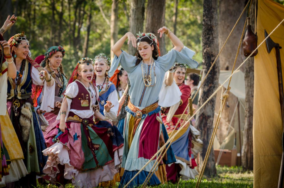 Gypsies dancing