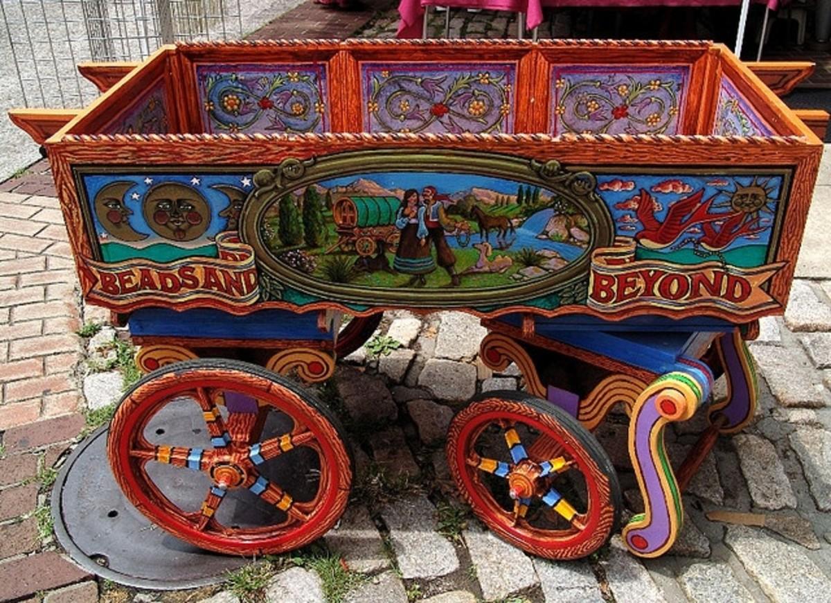 Hand cart gypsy style