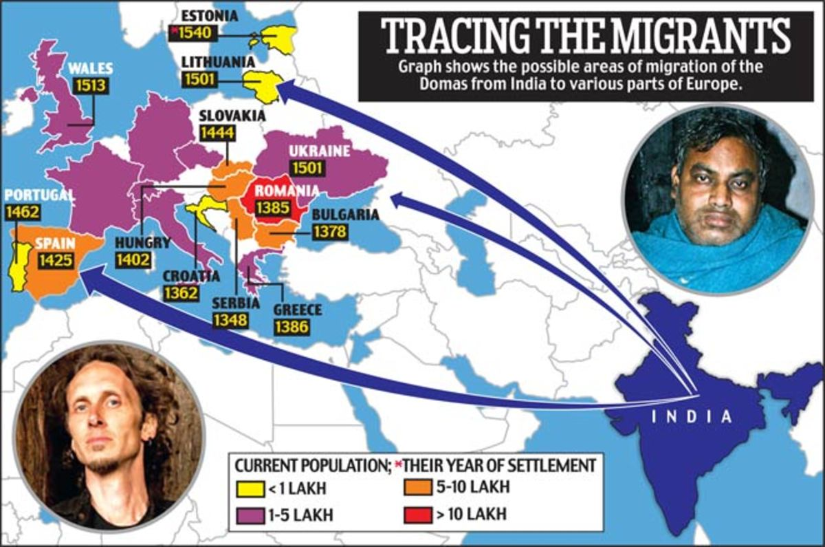 The Dalit Indians trace their route to the West.