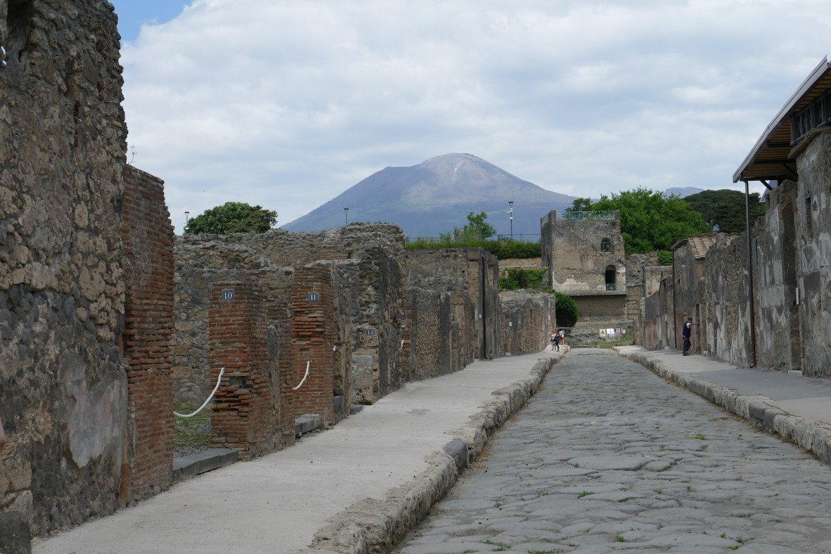 Pompeii after volcanic ash was removed