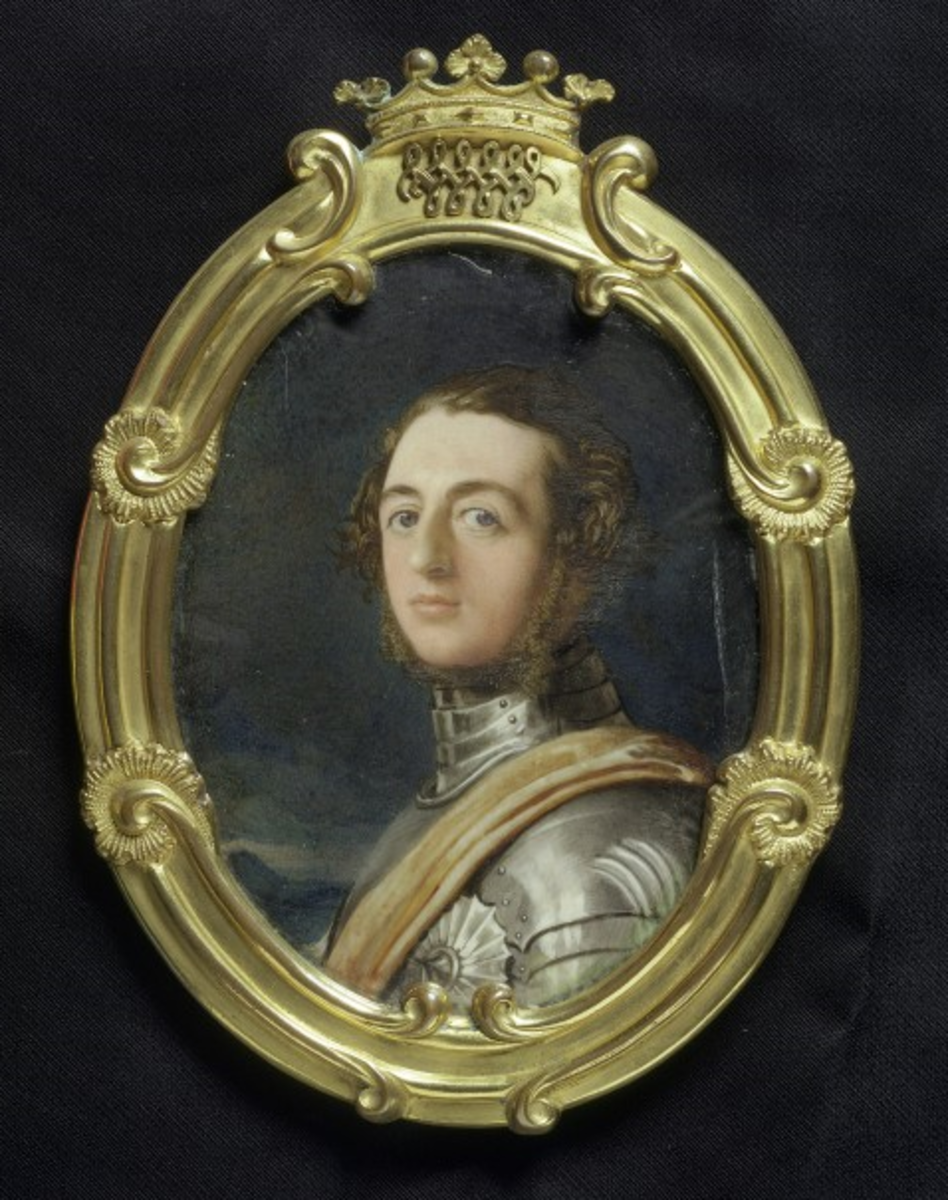 Henry de La Poer Beresford, 3rd Marquess of Waterford, dressed in Eglinton armour, by Robert Thorburn (1840). Victoria & Albert Museum.