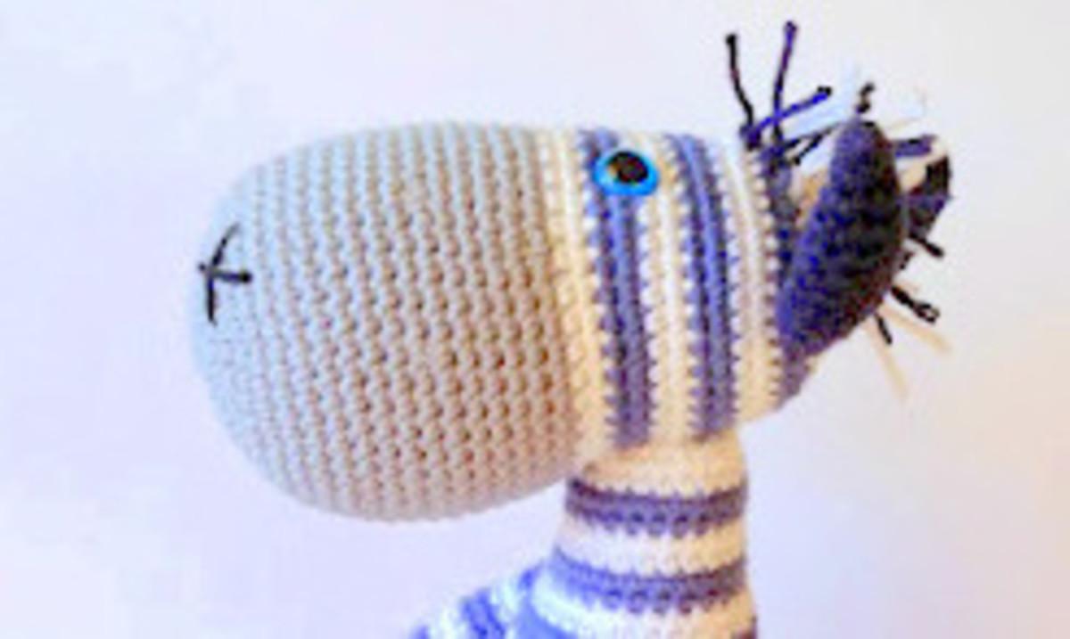 Zebra Amigurumi Uncinetto Tutorial 🦓 Zebra Crochet - Cebra ... | 147x246