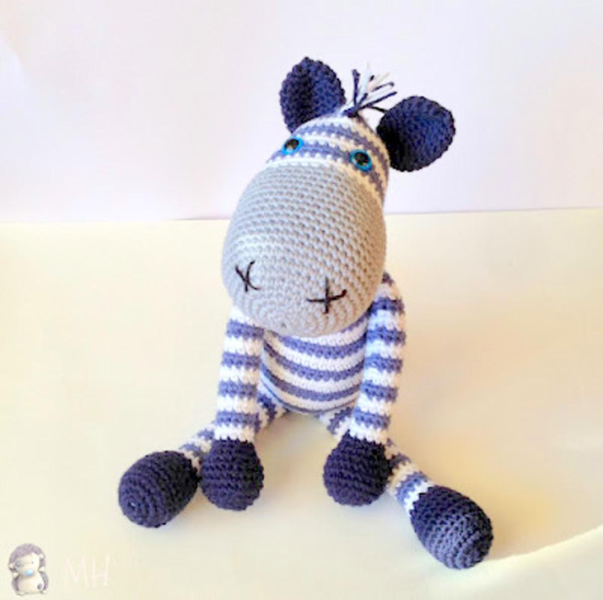 Zebra Amigurumi Doll: Free Crochet Pattern!