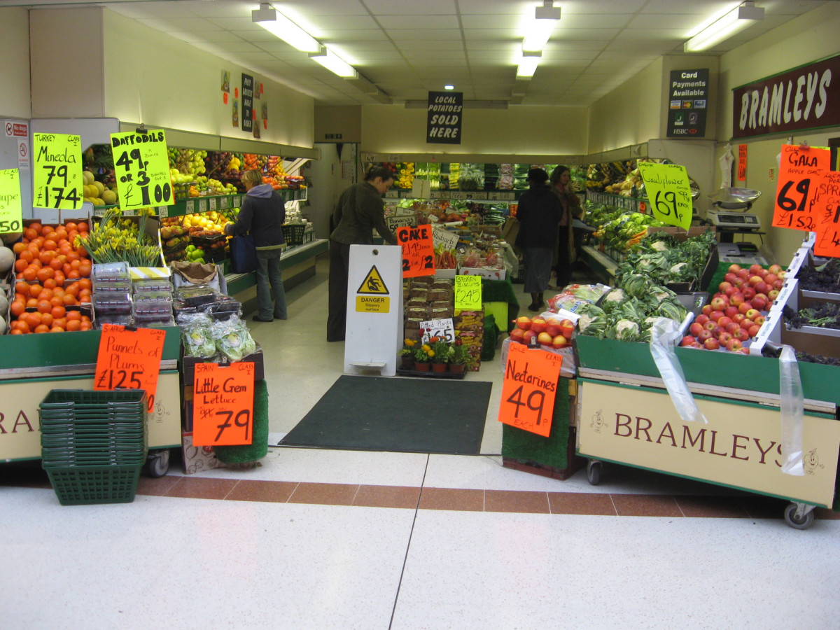 When entering supermarkets like this- never buy any fresh food that has been wrapped in plastic.
