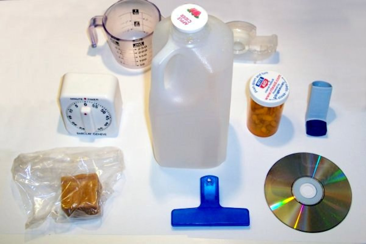 These everyday household items are made from many types of plastic.