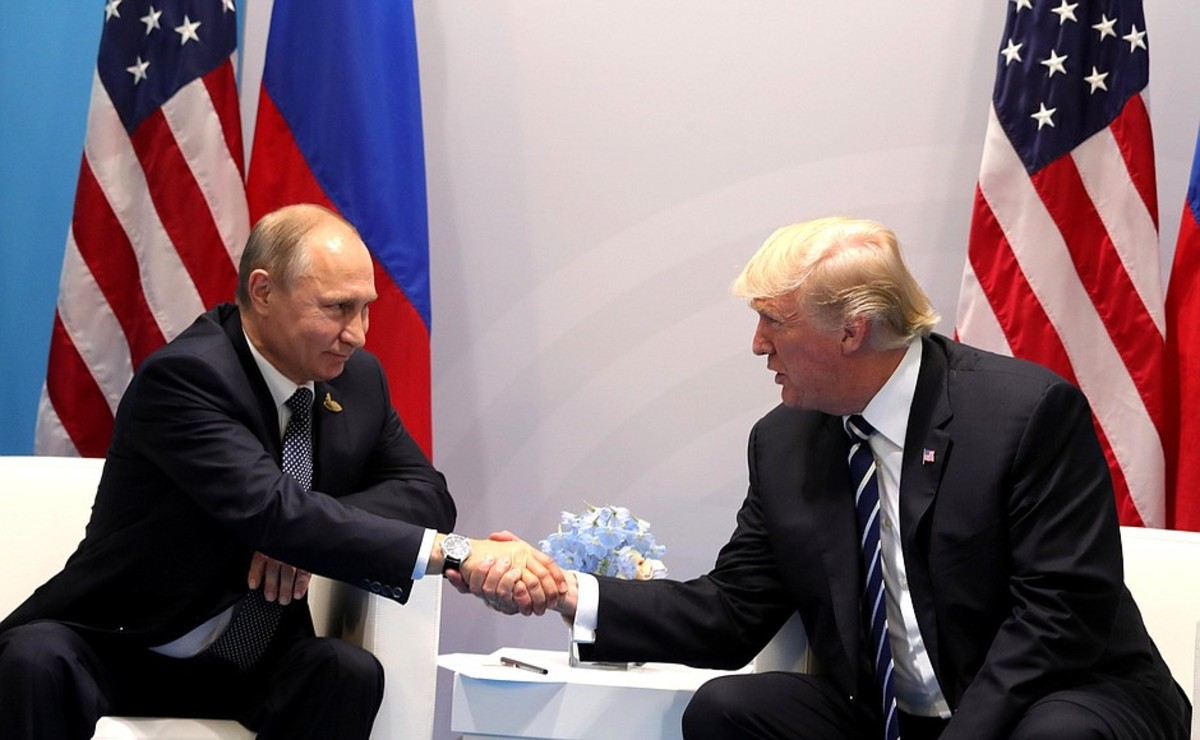 Presidents Trump and Putin.