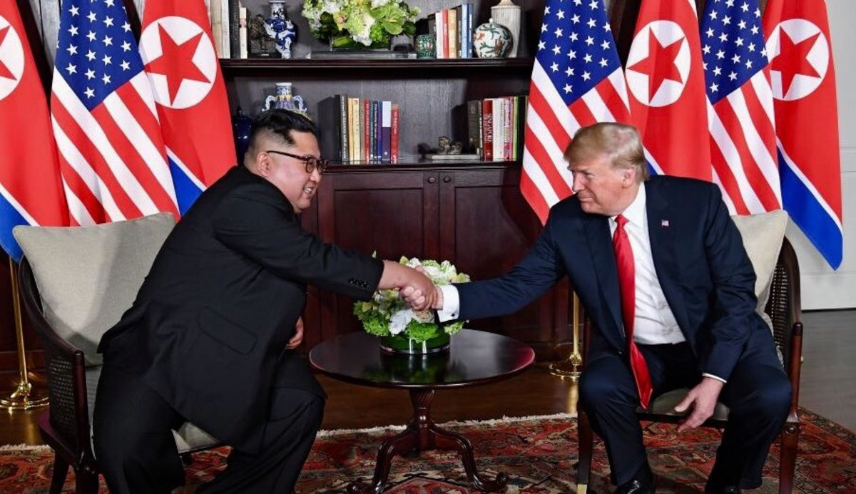 President Trump and Leader Kim in Singapor3, June 2018.