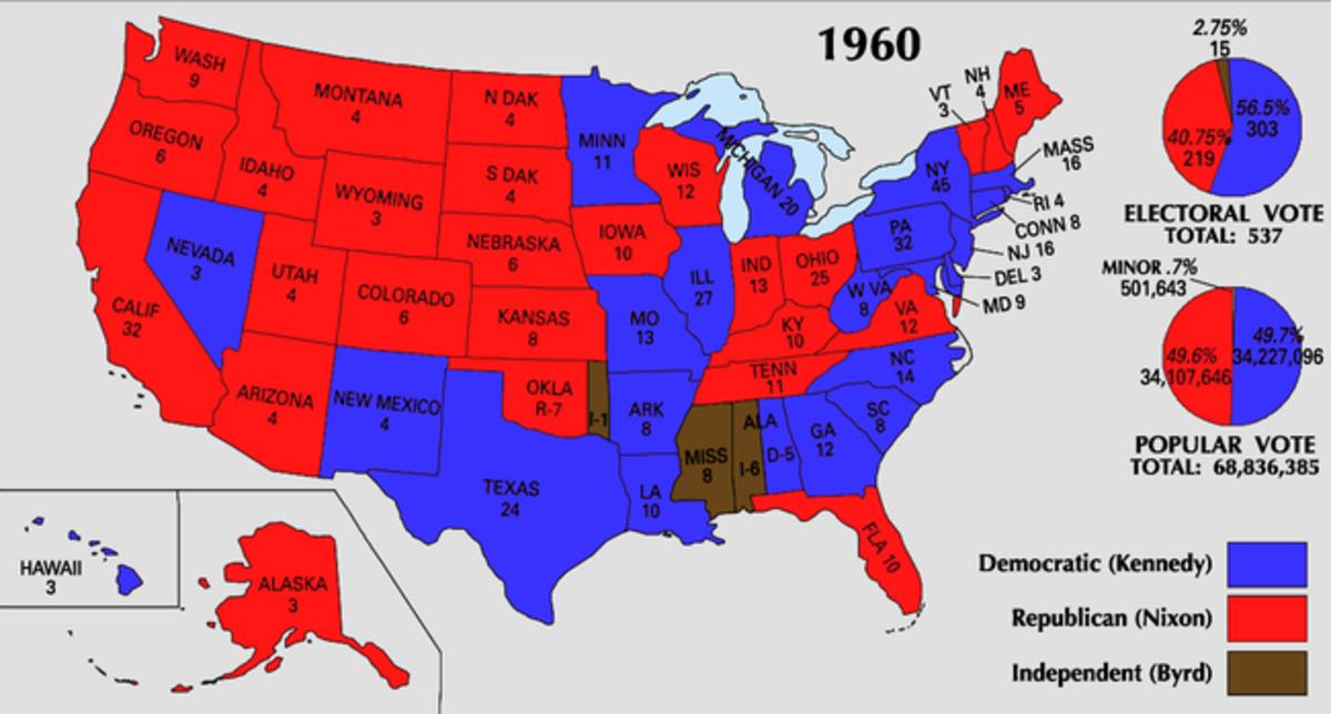 1960 Electoral Map
