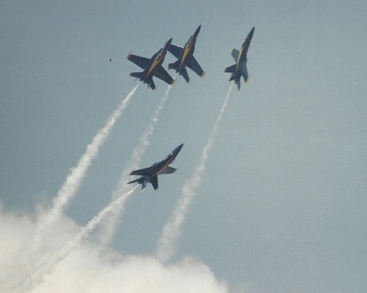 The Blue Angles at Andrews AFB, MD, May, 1988.