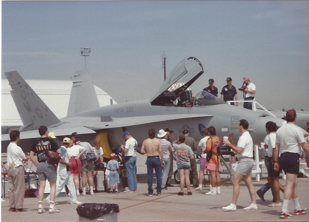 A USMC F/A-18, Andrews AFB, MD.