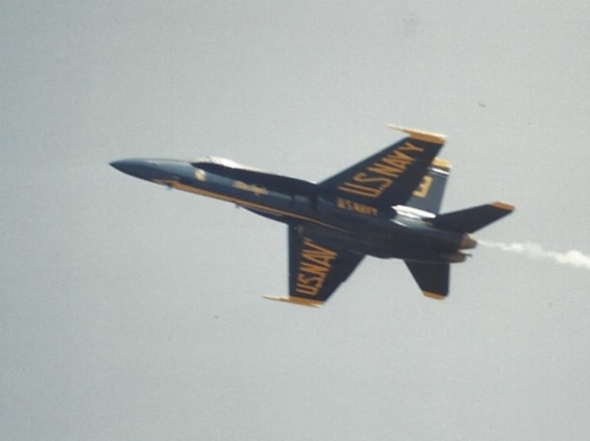 An F/A-18 of the Blue Angles