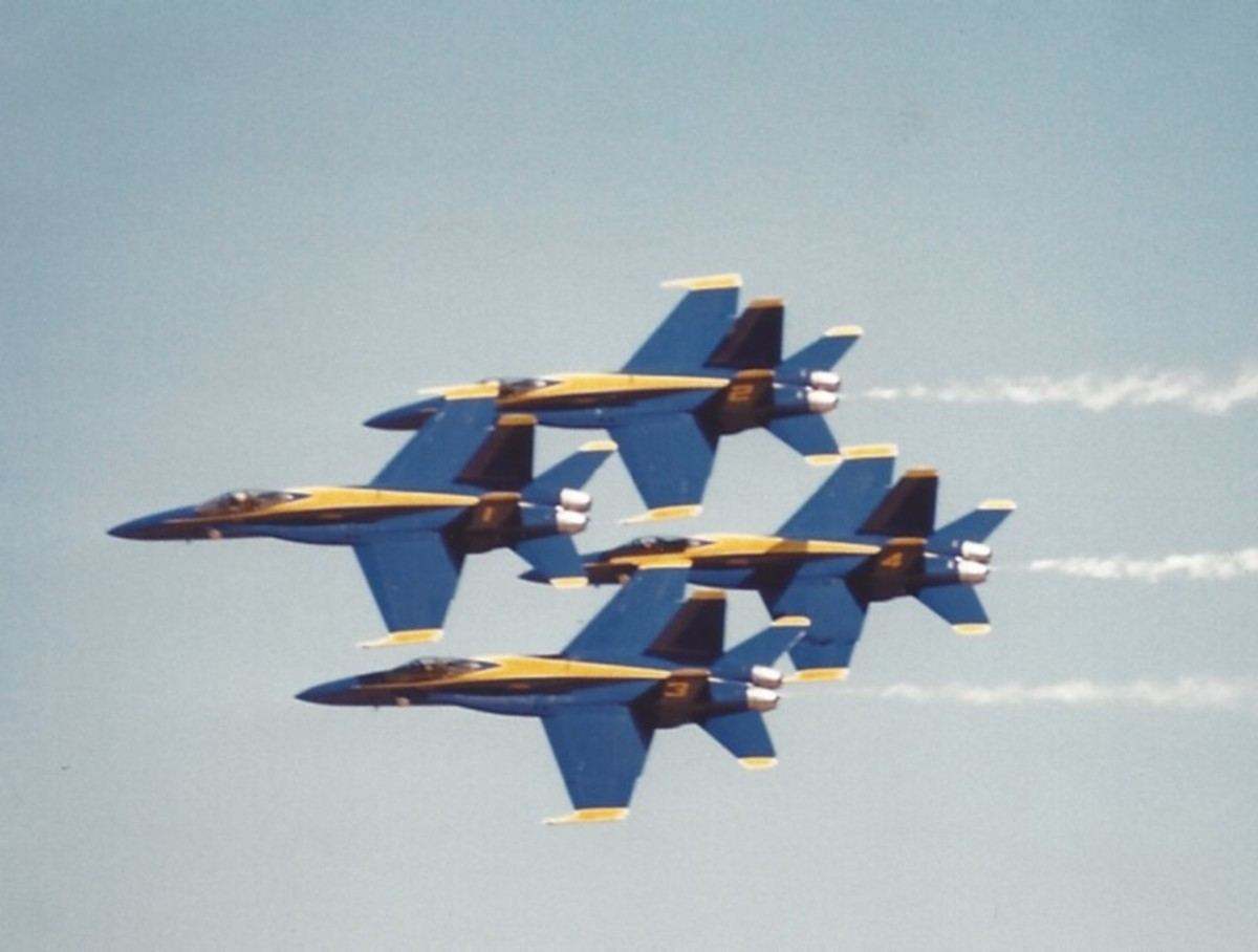 Blue Angles in flight.