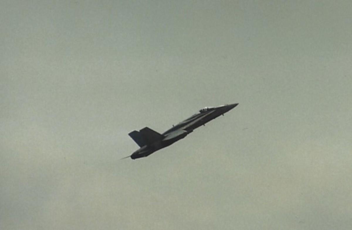 A CF-188 in flight