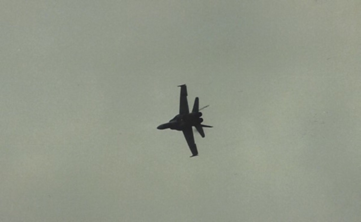 A CF-188 in flight, Andrews AFB, MD.