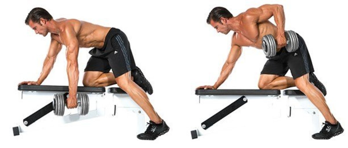 How to Do Bent-over Dumbbell Row Drop Sets