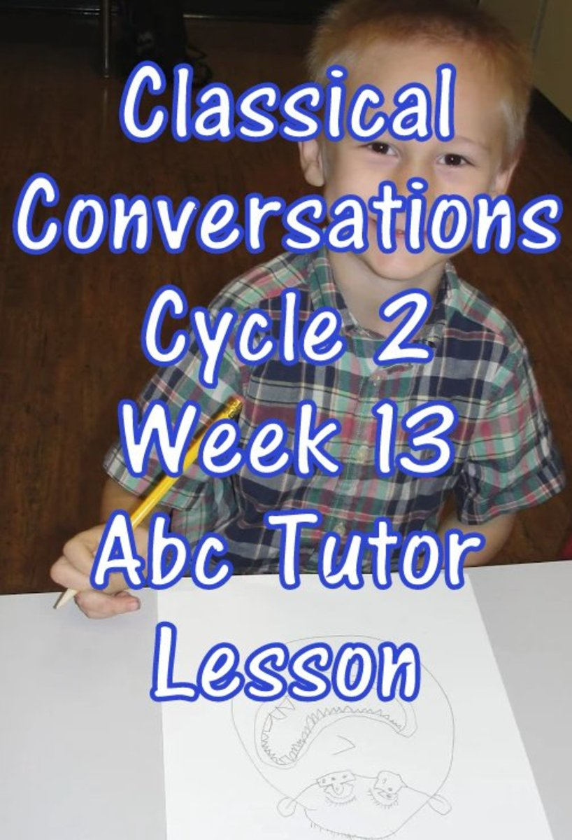 CC Classical Conversations Cycle 2 Week 13 Abc Tutor Plan