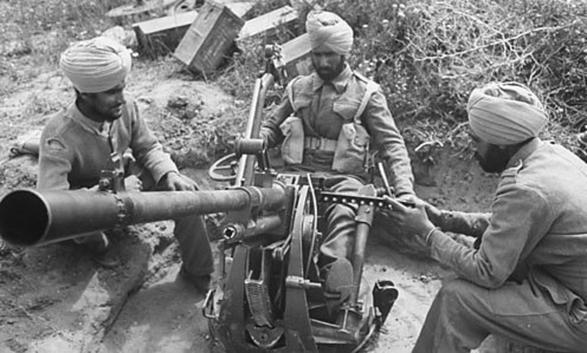 Sikh soldiers of the 4th Indian division WWII of the 8th Army